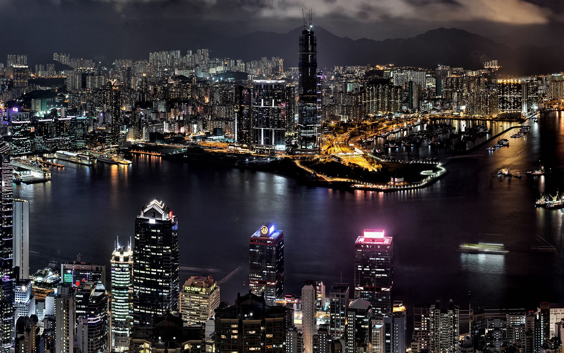 Aerial View Of Cities At Night Download City In The Night Aerial View Wallpaper Wallpaper Million Cityscape Wallpaper Night City Night Skyline