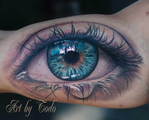 34 astonishingly beautiful eyeball tattoos auge tattoo. Black Bedroom Furniture Sets. Home Design Ideas