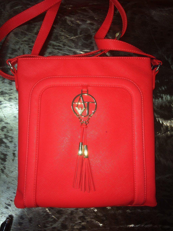 Abbigliamento Tracolla Armani Rossa Borsa A Con Firmato Jeans tRXUXxw