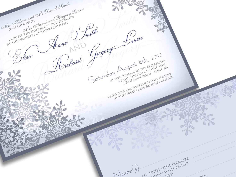 Winter wedding invitations Niagara Falls Invitations
