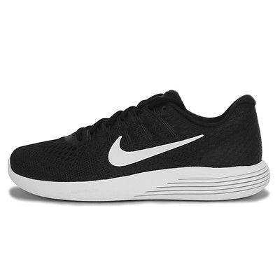 cddc8e3e78b9d Nike LunarGlide 8 Mens 843725-001 Black White Mesh Flywire Running Shoes Sz  8.5