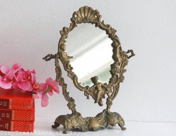 Vanity Mirror Table Makeup Mirror on Stand by CozyTraditions