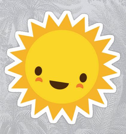 Cute Kawaii Sun Cartoon Character Sticker By Mhea In 2021 Kids Art Projects Cartoon Sun Cute Drawings