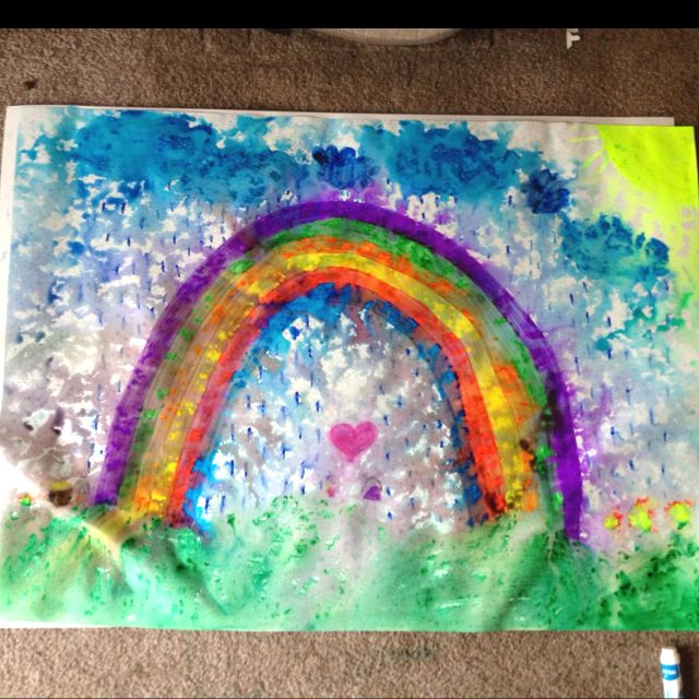 Rainy Day Art Project! Have Kids Draw A Picture Then Leave