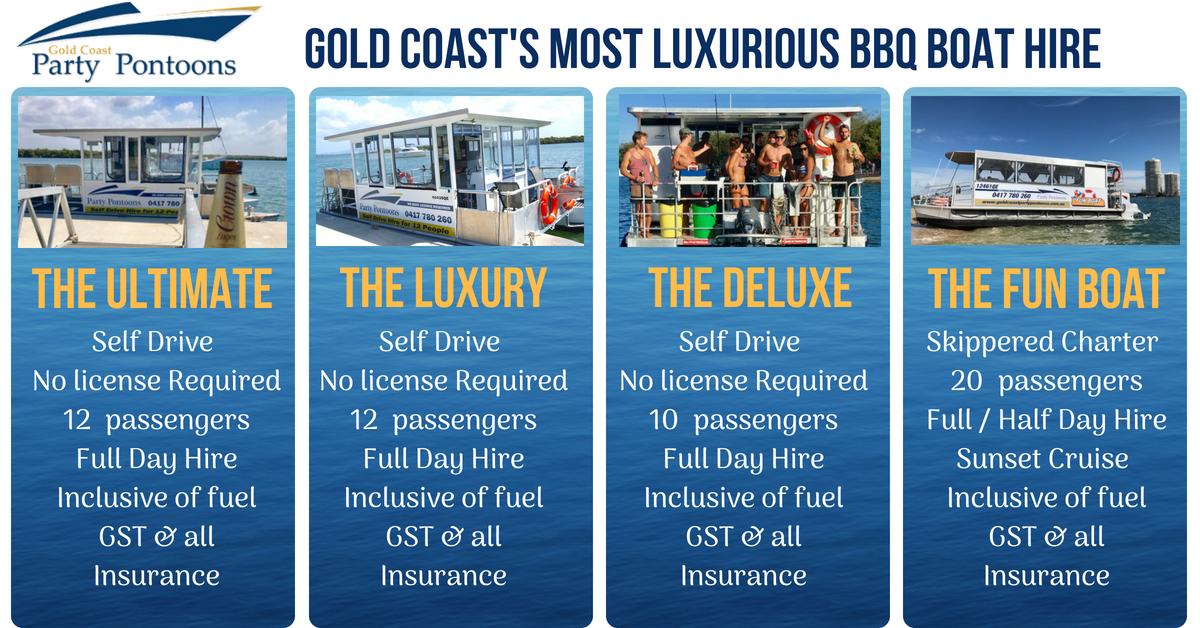 Gold Coast S Most Luxurious Bbq Boat Hire Boat Hire Pontoon Boat Pontoon