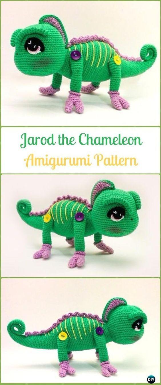 Amigurumi Crochet Jarod The Chameleon Paid Pattern Crochet