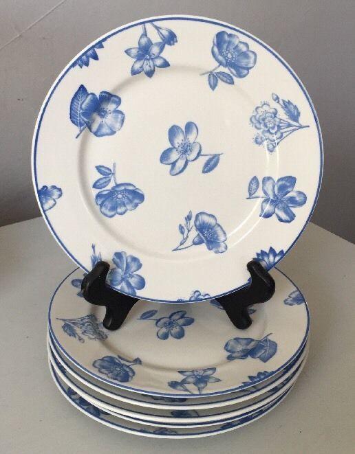 CIPA Porcellaine Italy Blue \u0026 White Floral Pattern Plates 7 3/4\  #Cipa & CIPA Porcellaine Italy Blue \u0026 White Floral Pattern Plates 7 3/4 ...