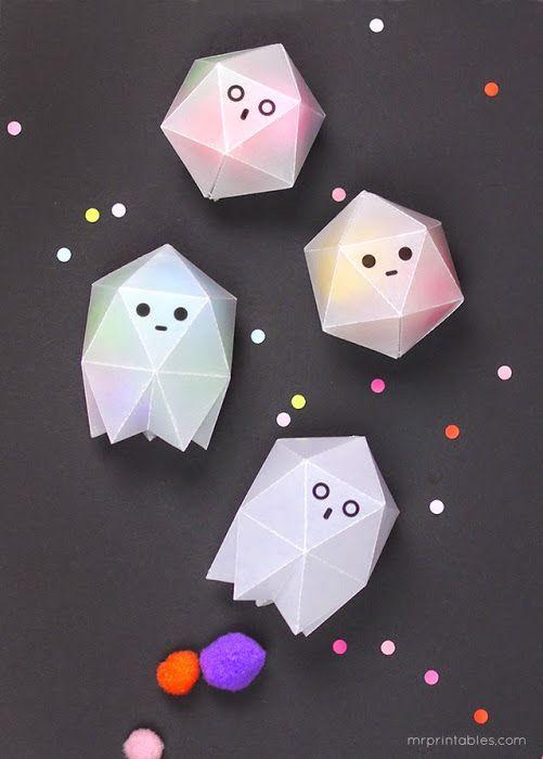 DIY  Geometric Ghost Boxes Class Parent Pinterest Ghosts - halloween diy crafts