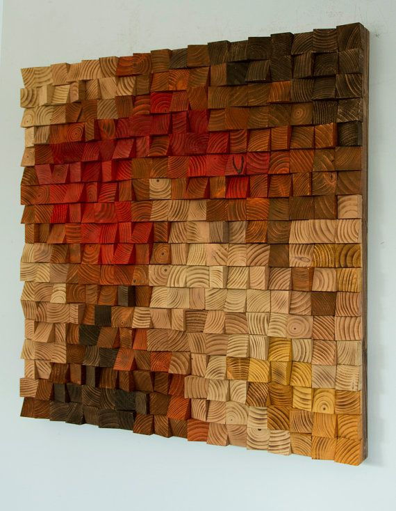 Large Rustic wood wall Art, wood wall sculpture, abstract painting on wood  목공예 ...