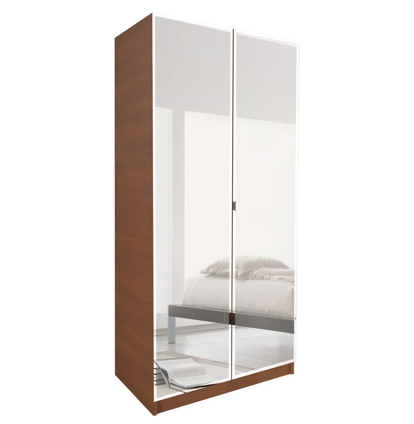 Alta Wardrobe Cabinet 3 Shelves Double Doors Wardrobe