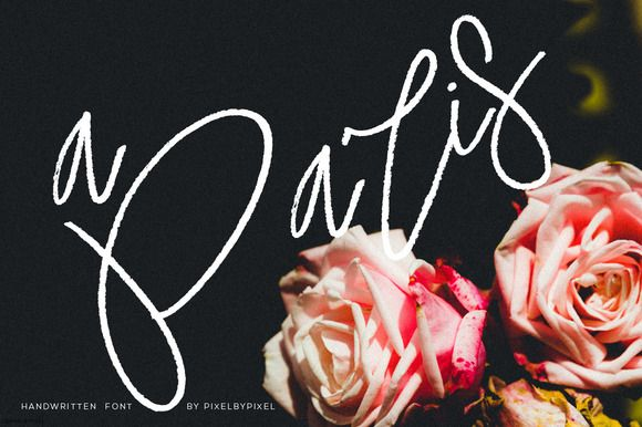 A Paris Handwritten Font by pixelbypixel on @creativemarket