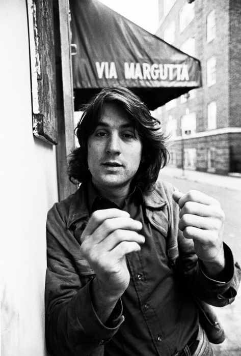 Robert De Niro photographed by Santi Visalli in NYC, 1973 #Portrait #Photography