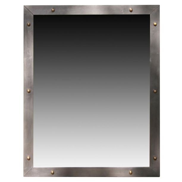 Industrial metal mirror industrial metal industrial and for Metal frame mirror