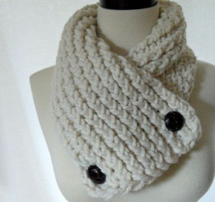 Knitting Scarf With Buttons 47 Ideas #knitting   Short ...
