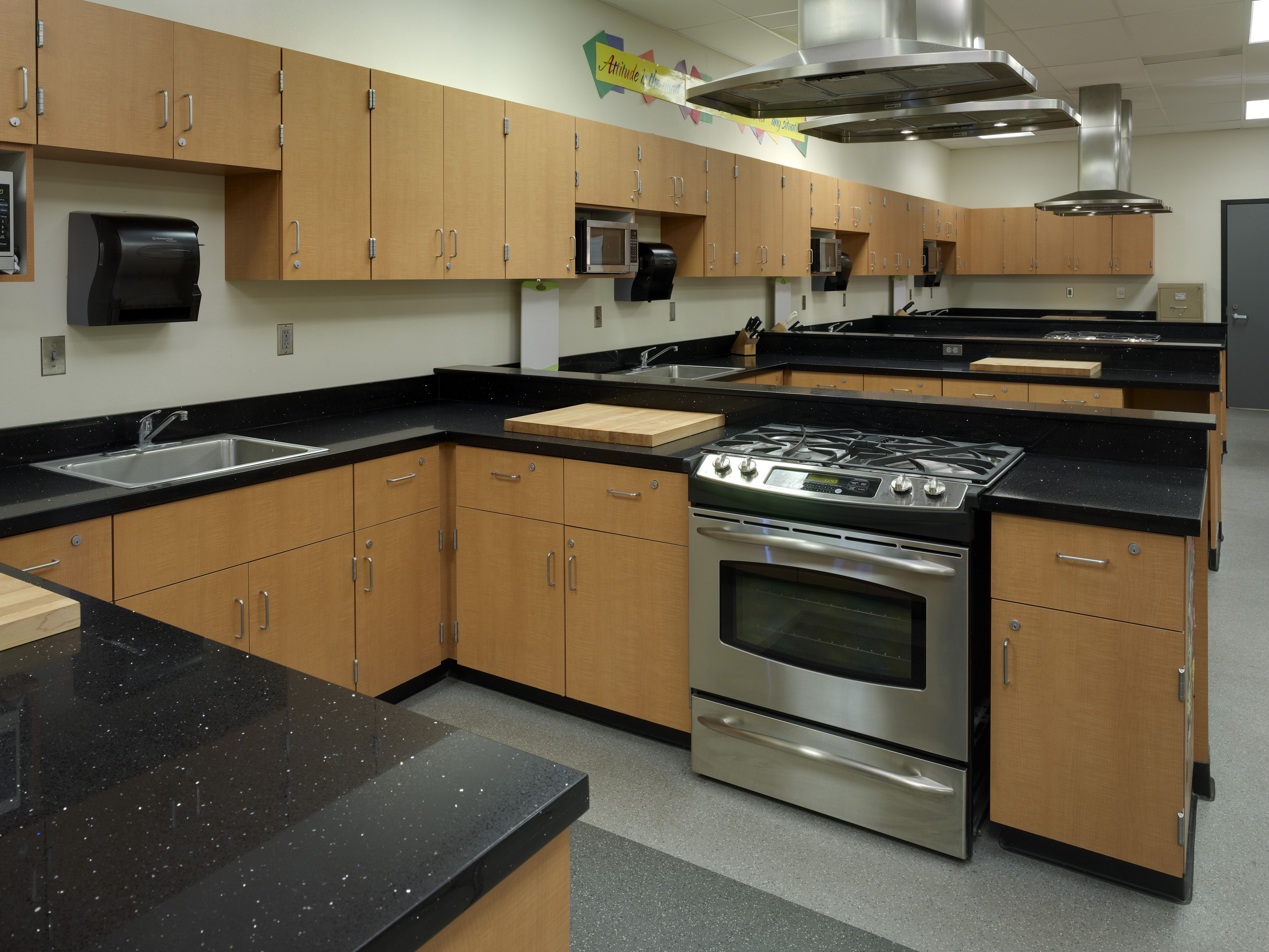 Hart high school cooking laboratory with images