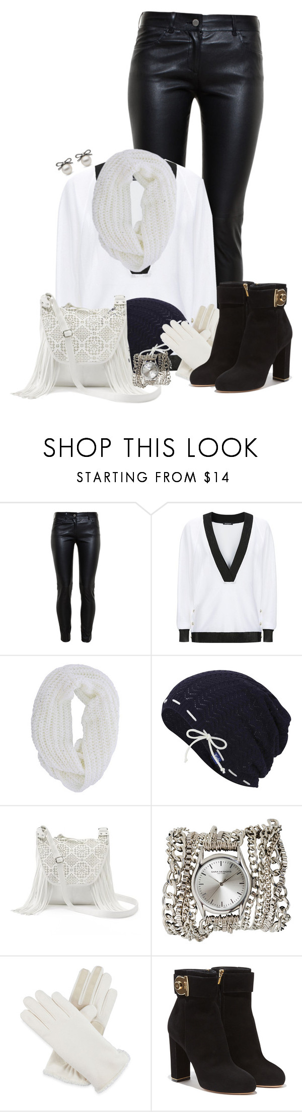 """Black and white"" by md-louber ❤ liked on Polyvore featuring Balenciaga, Balmain, Keds, Candie's, Sara Designs, Isotoner and Salvatore Ferragamo"