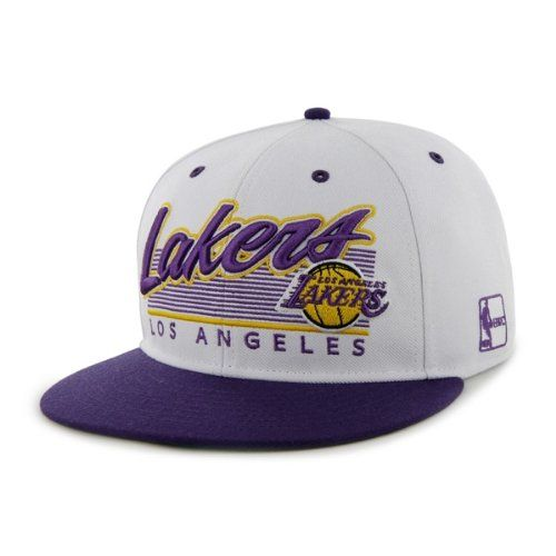 Los Angeles Lakers Embroidered Flat-Billed Snapback Cap by Forty Seven  Brand 47 Brand provides d3a720b2f6e