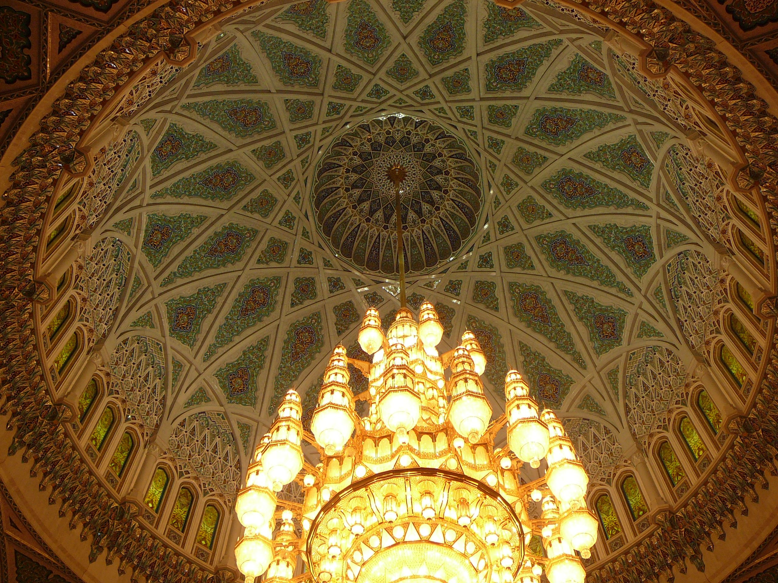 Grand Mosque Oman Mu The Second Largest Chandelier In World Scaling 14 Mts