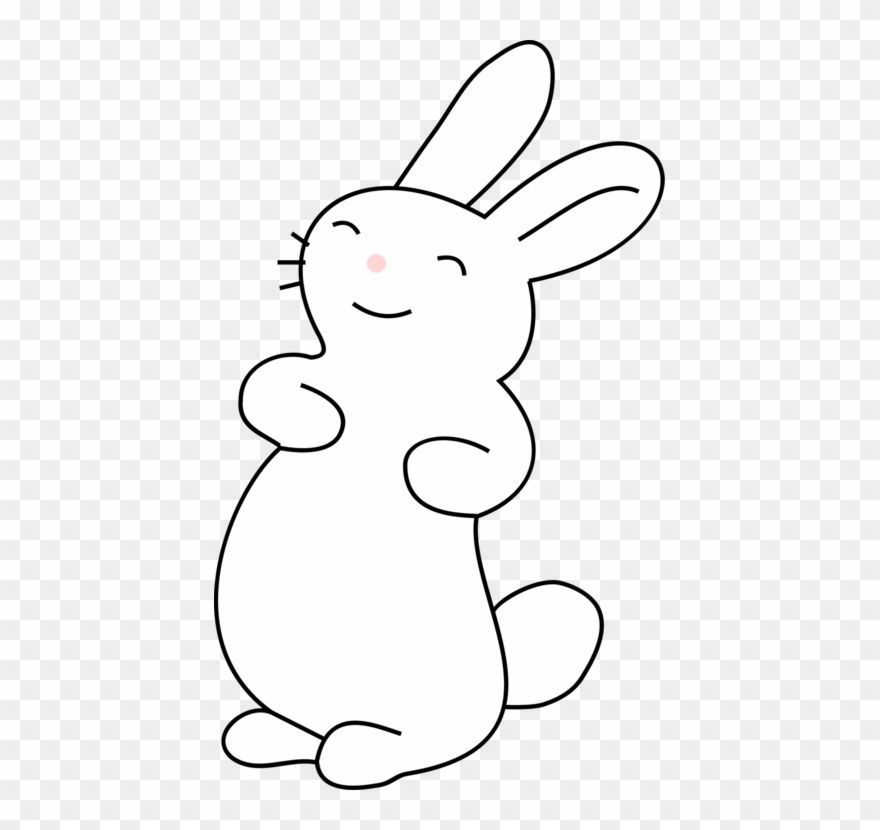 White Rabbit Easter Bunny Hare Cartoon Kawaii Bunny Colouring