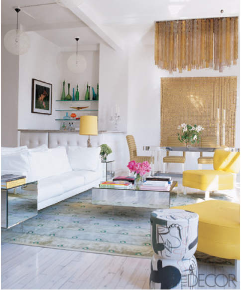 Designer Eric Hughes Via Elle Decor Love The Lively Yellow