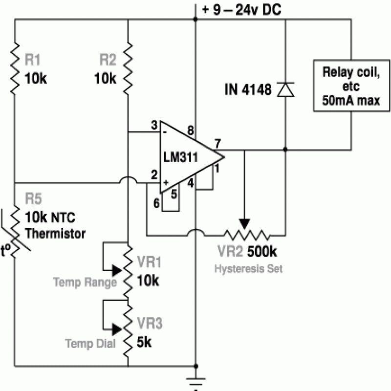 Ntc Thermistor Circuit Diagram Circuit Diagram Circuit Diagram Thermostat Circuit Design