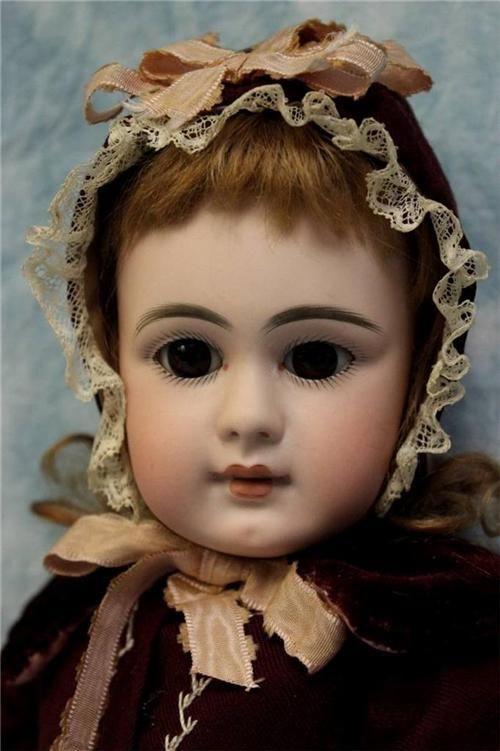 "18"" Antique SIMON & HALBIG 939 Doll 1880s Closed Mouth Fabulous Original Clothes"