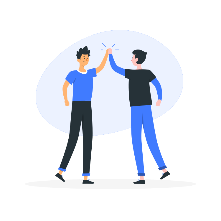 High Five By Freepik Stories Svg Png Illustration Greeting Celebration Cheers Team People Expression H High Five Illustration Powerpoint Slide Designs