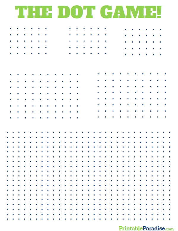 graphic relating to Dots Game Printable known as Printable Dots Activity! Miscellaneous Printables Dots recreation