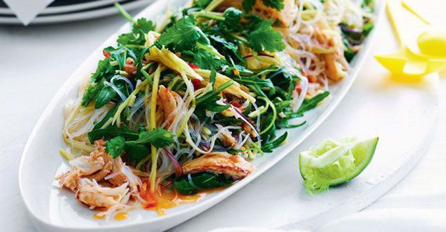 Salade mangue/crabe/vermicelles de riz