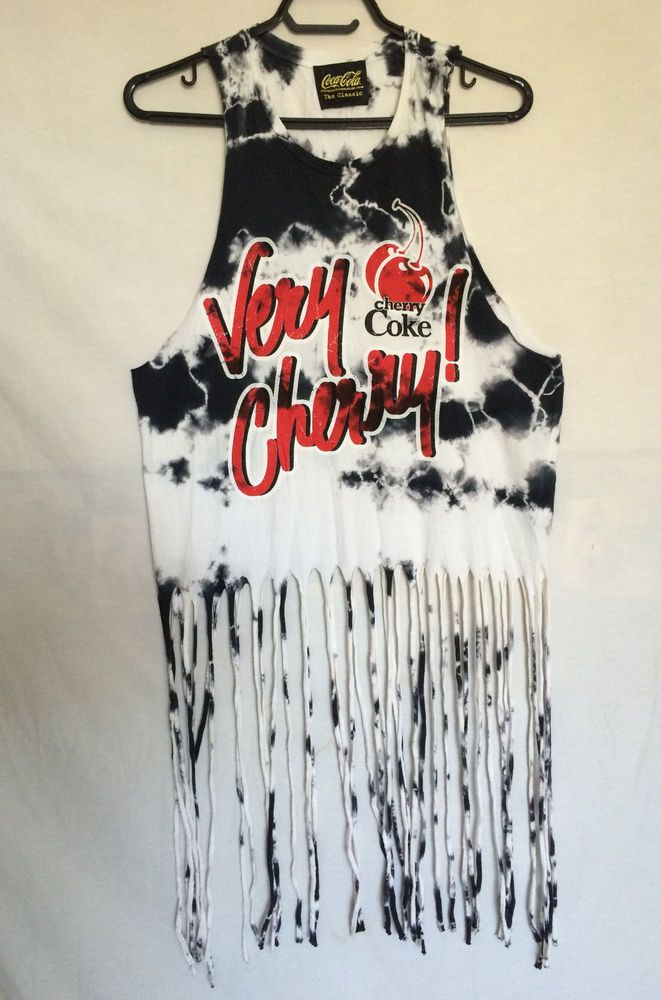 4d8a8065603fb Coca-Cola Tank Top Sleeveless Camisole Small Very Cherry Coke Tassels  Womens  CocaCola  TankCami  Casual