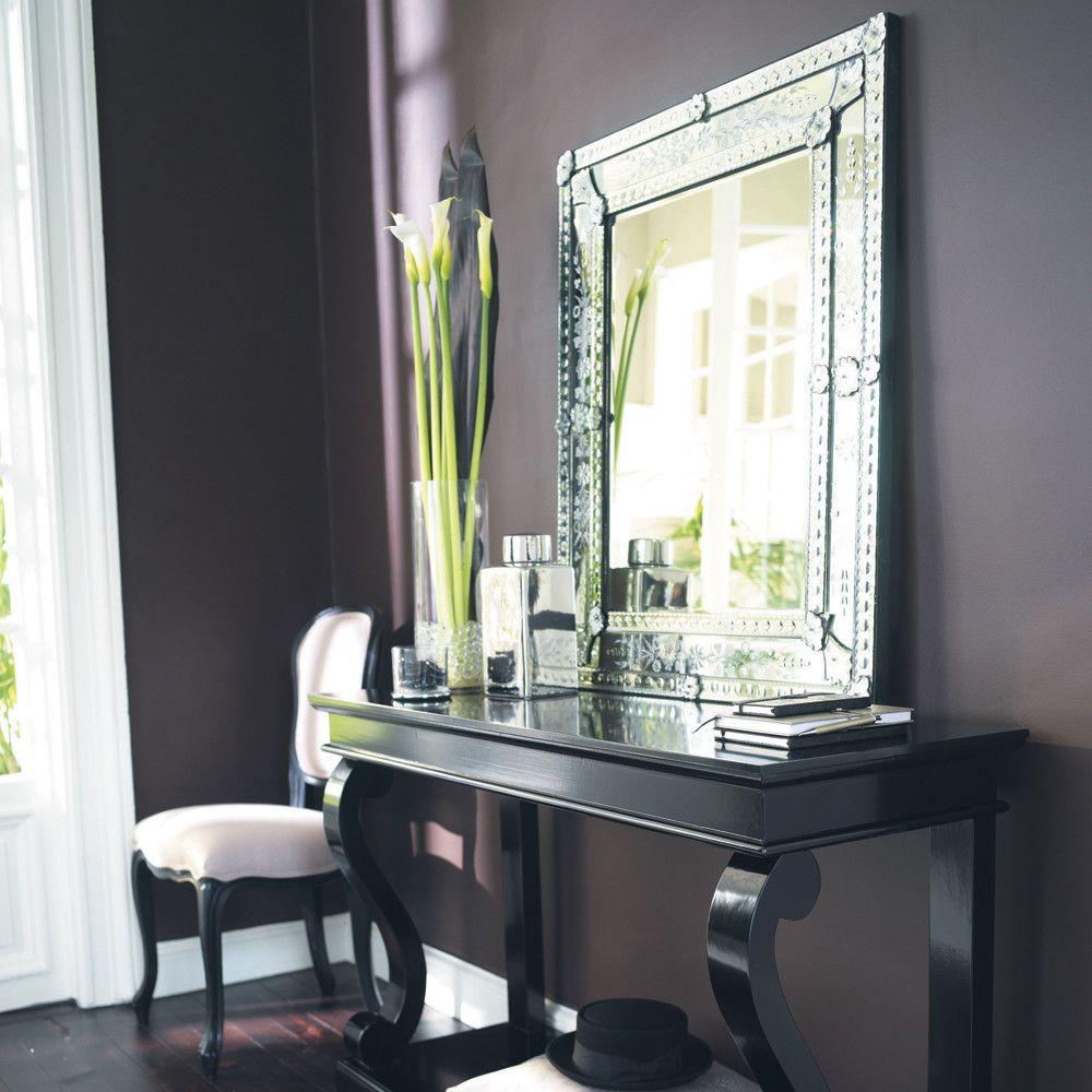 VÉNITIEN glass mirror H 90cm   Maisons du Monde   Bathroom   Pinterest