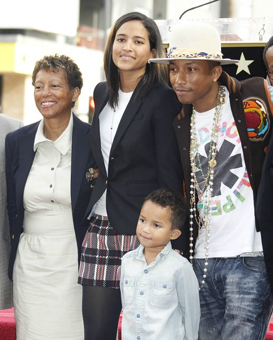 Pharrell Williams, wife Helen, son Rocket Man and Pharells ...