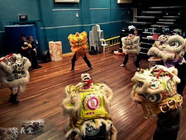 Jui yee lion dance training (Sydney, Australia) #Liondance #liondancing #lion #chinese #Martialarts #kungfu #chineseliondance #chinesenewyear #futsan #hoksan #futhok #art #design #traditional #culture #paint #fur #yellow #white #orange #training #sport
