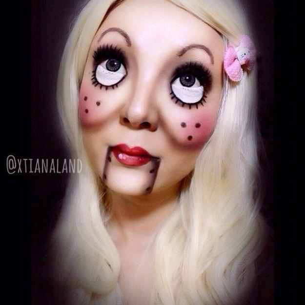 creative-halloween-make-up-ideas-85__605 | Bodypainting, masks ...