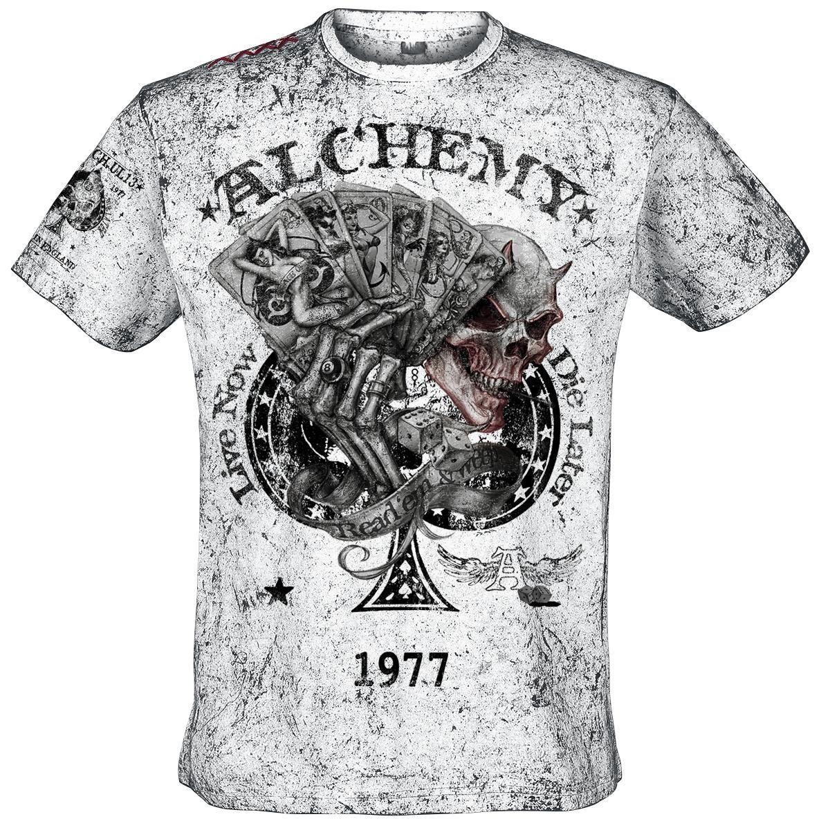 T-Shirt Manches courtes Alchemy England »Read'em and Weep« | Dispo chez EMP | Plus de Manches courtes RockWear sur notre site en ligne ✓ Prix imbattables !