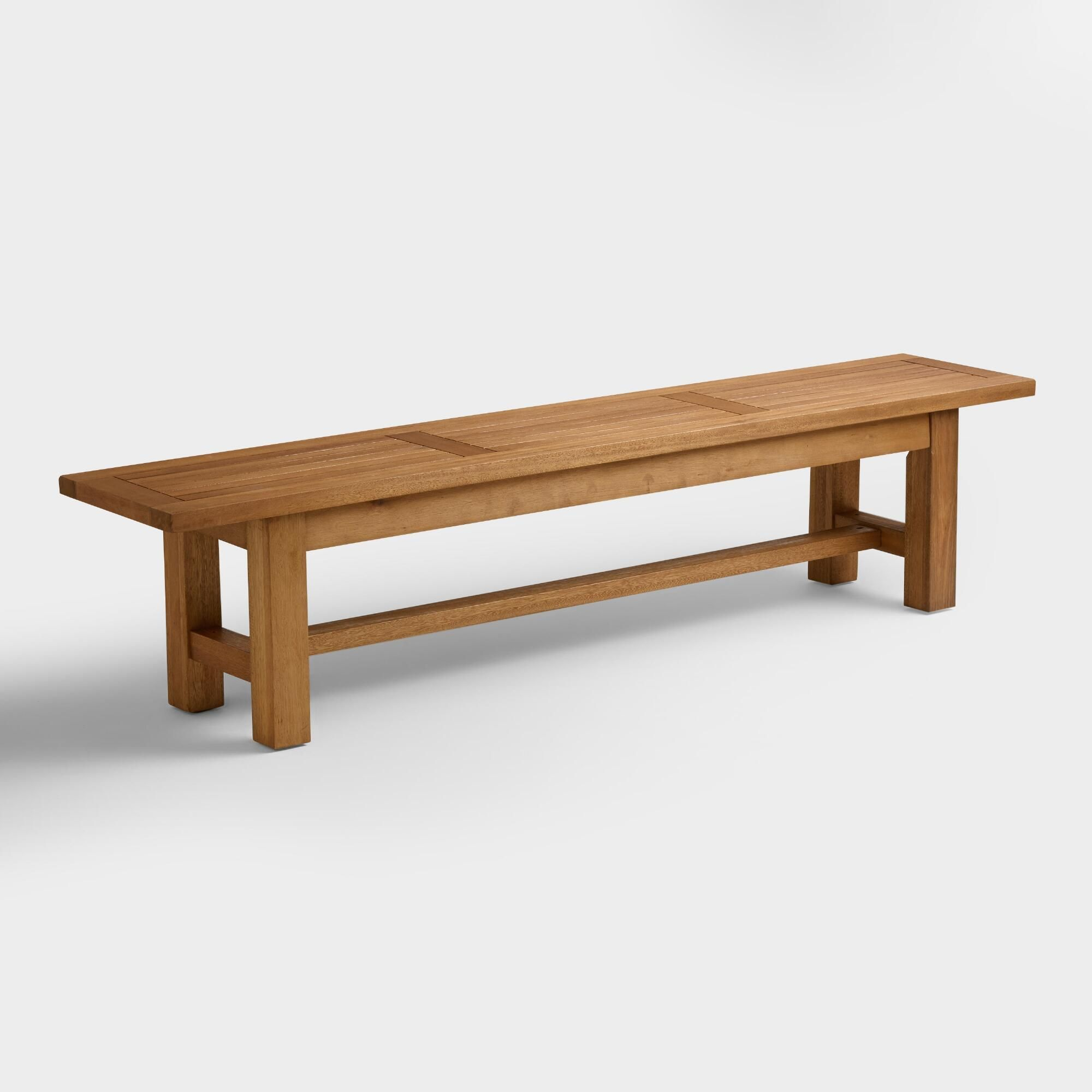 Wood Praiano Outdoor Patio Dining Bench By World Market