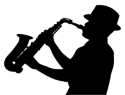 sax player silhouette | Silhouette painting, Silhouette art, Silhouette