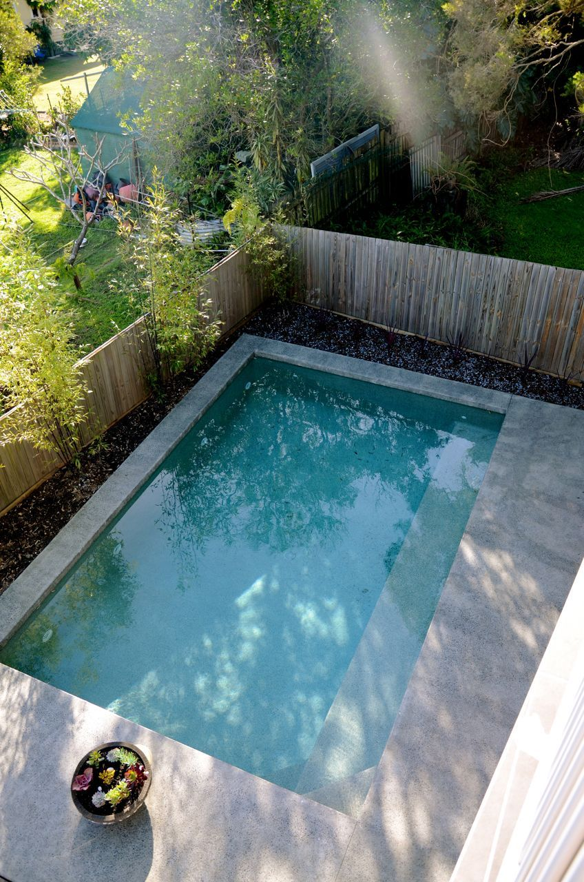 7hills House Brisbane Pool Polished Concrete Coping Small Pool Design Small Backyard Pools Small Swimming Pools