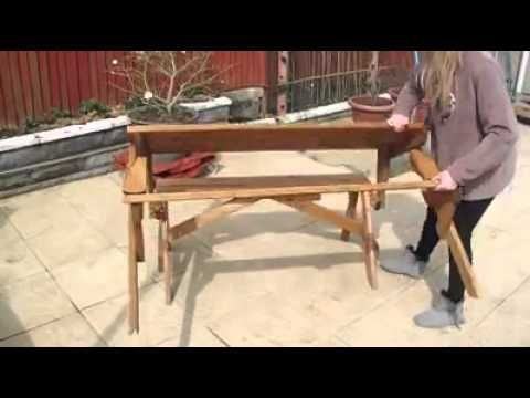 Foldable bench table
