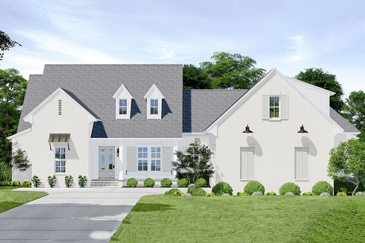 Beloved Contemporary Farmhouse Plan with Bonus Level above ...