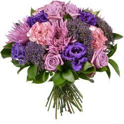 Bouquet Rose Et Violet Livraison Fleurs Bouquet De Roses Fleurs
