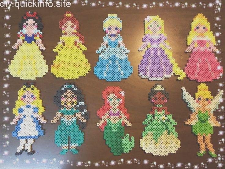 Hama Disney Prinzessinnen Basteln Bugelperlen