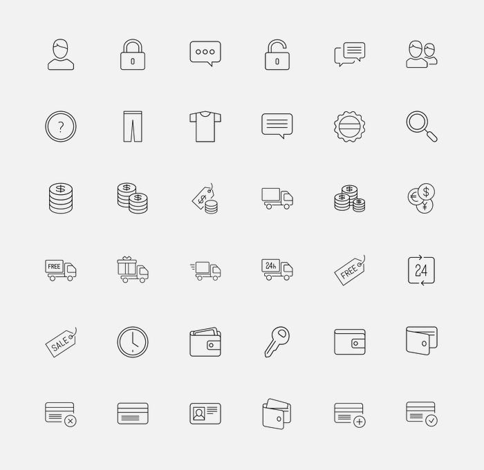Looking for shopping icons for your online business? You're on the right spot. We have gathered here more than 20 icon sets that cover all the necessary icons you would probably find, and therefore should have, at an e-Commerce store. This may include icons for the shopping cart,