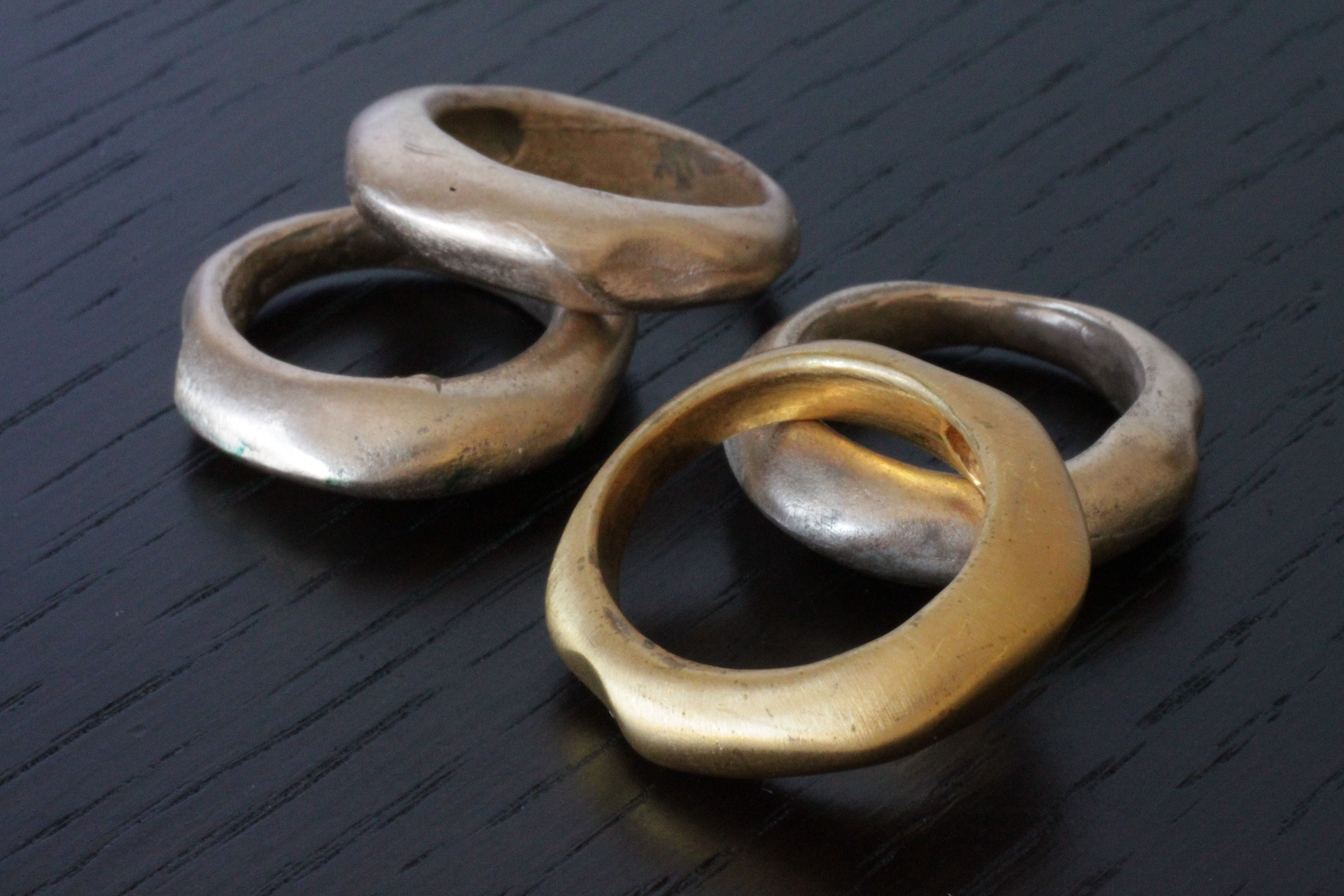 wiggly Ring in Vermeil or Rose Plated in size 6 by RSBP Jewelry