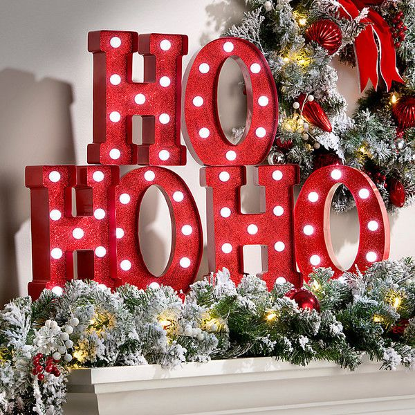 Christmas Sign Decorations Captivating Improvements Lighted Ho Ho Ho Marquee Sign Christmas Decoration Design Inspiration