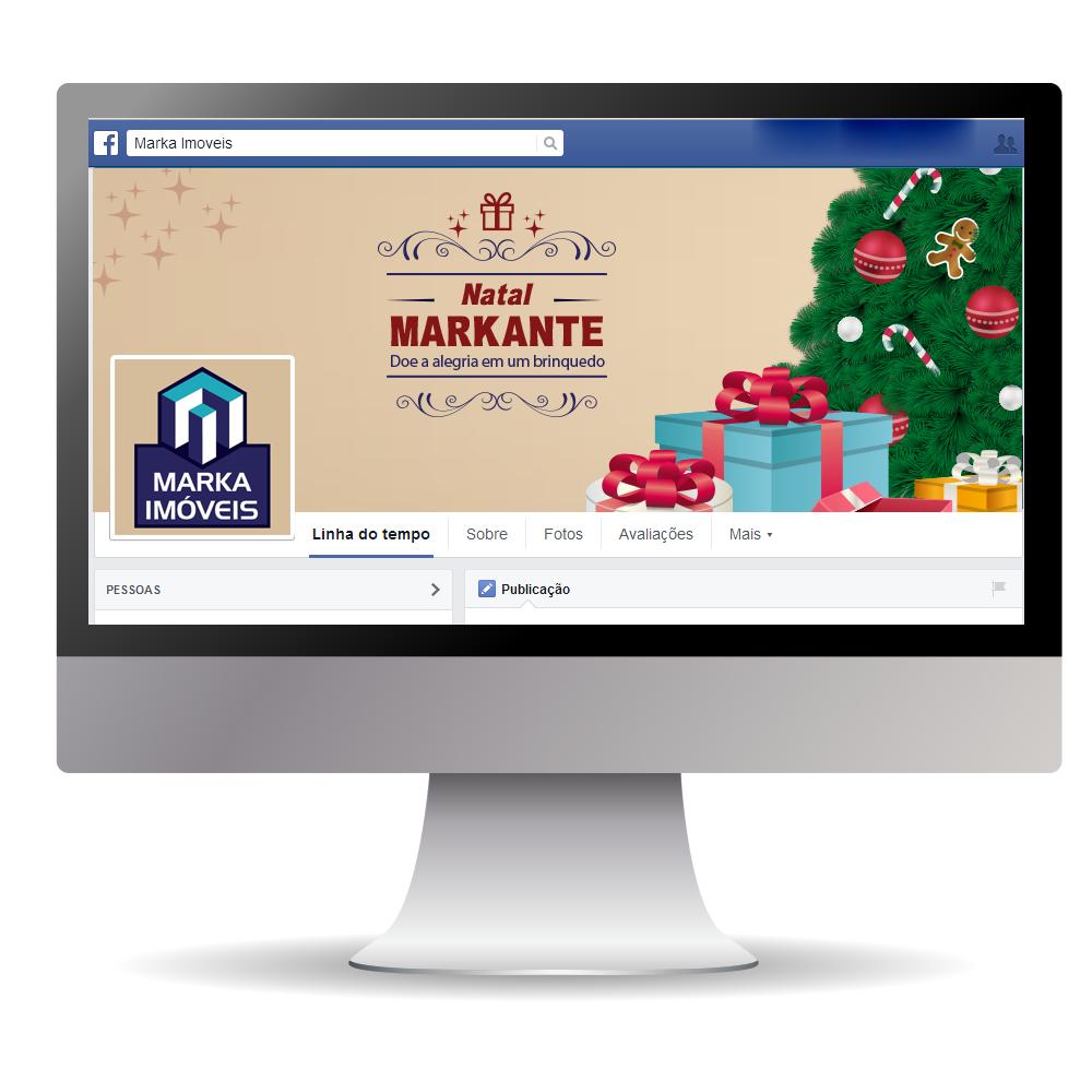 Campanha de Natal para o cliente Marka Imóveis