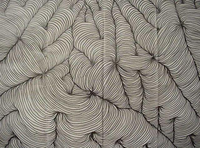 Op Art Line Design In Pencil Op Art Line Design Art