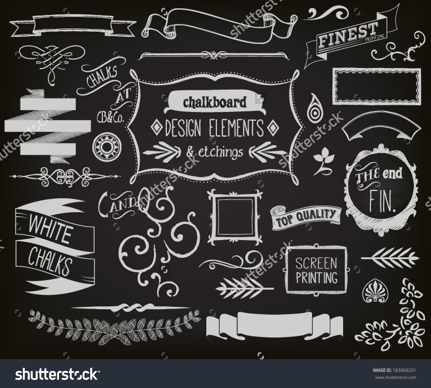 Chalkboard Designs Chalkboard Design Elements And Etchings Blackboard Clip Art