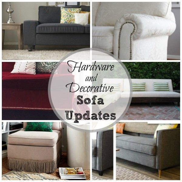 Remodelaholic 28 Ways To Bring New Life To An Old Sofa Old Sofa How To Clean Furniture Sofa Decor