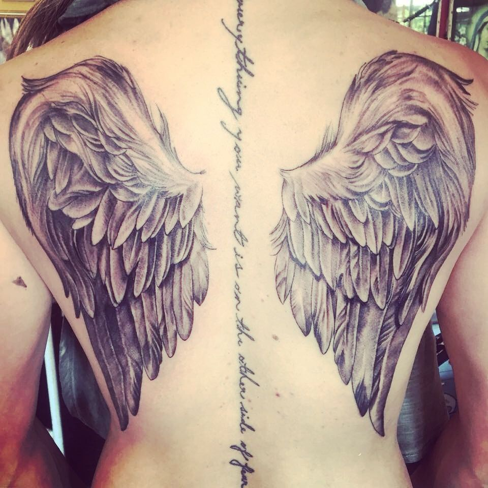 Angel Wings Female Back Tattoo Back Tattoo Women Wing Tattoos On Back Back Tattoo